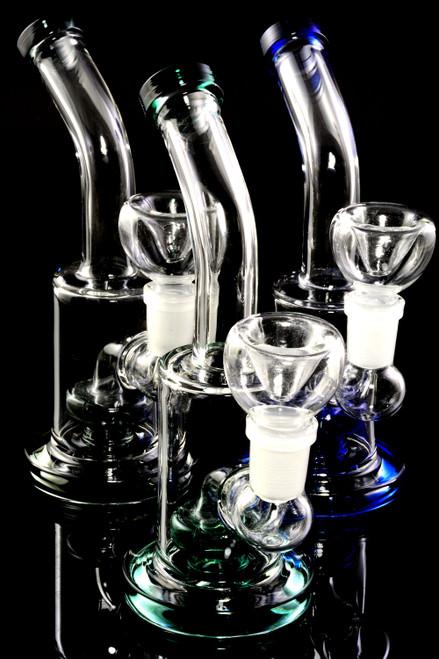 Bulk mini glass  bongs for smoke shop resale.