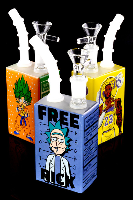 Small Stemless GoG Square Decal Water Pipe - WP2467