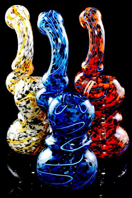 Wholesale colorful glass sherlock bubbler bongs in bulk.