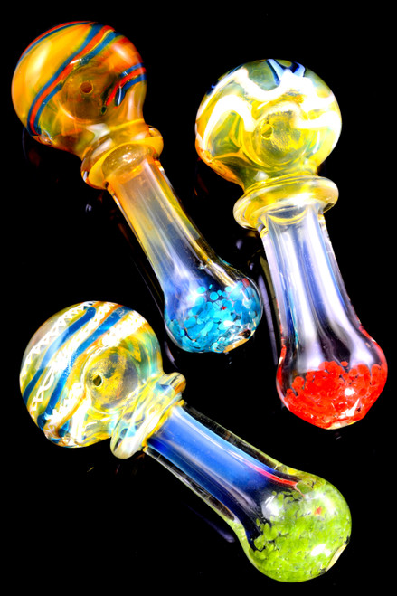 Bulk thick glass pipes for wholesale distribution.