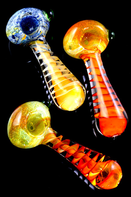 Bulk thick glass smoking hand pipes wholesale.
