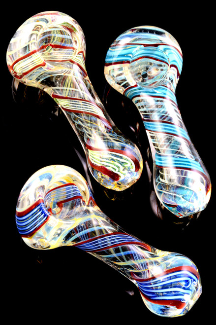 Bulk color changing hand pipes for smoke shop resale.