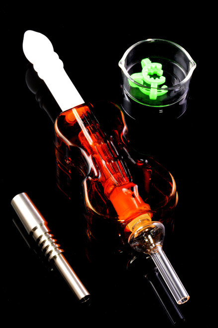 Unique wholesale glass violin nectar collector for resale.