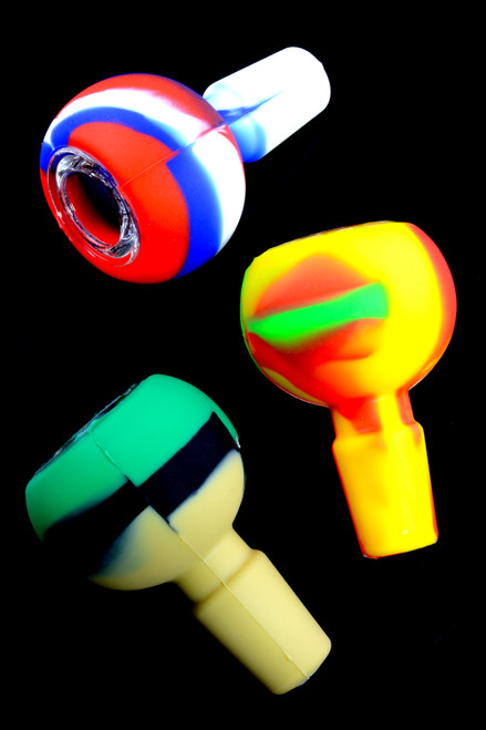 Multicolor 18mm silicone bong bowls in bulk