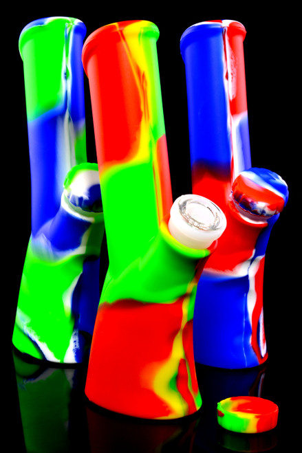 Wholesale silicone rifle stock water pipes for head shop resale.
