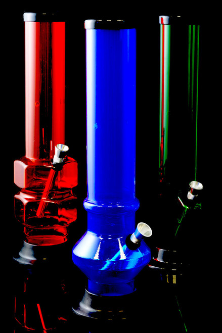 """(US Made) 12"""" Large Acrylic Water Pipe - WP155"""