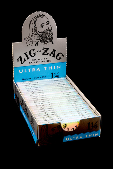Wholesale retail display of Zig Zags for resale.