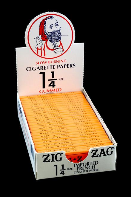 "Bulk Zig Zag Orange 1 1/4"" rolling papers for resale."