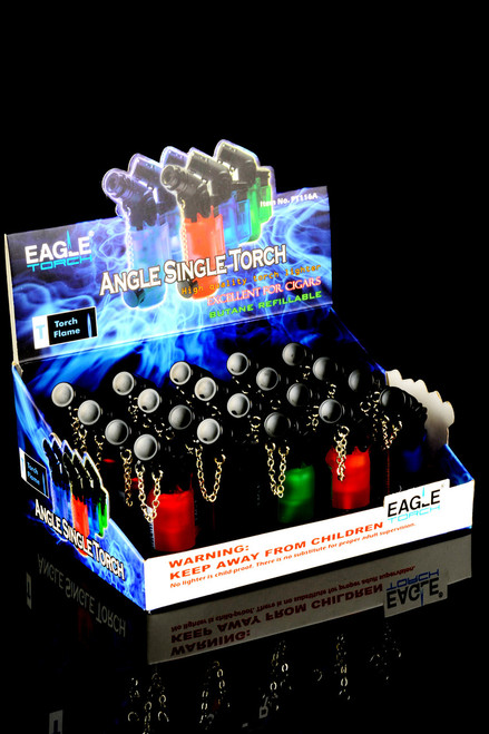 20 Pc Eagle Angle Single Torch Display - L0132
