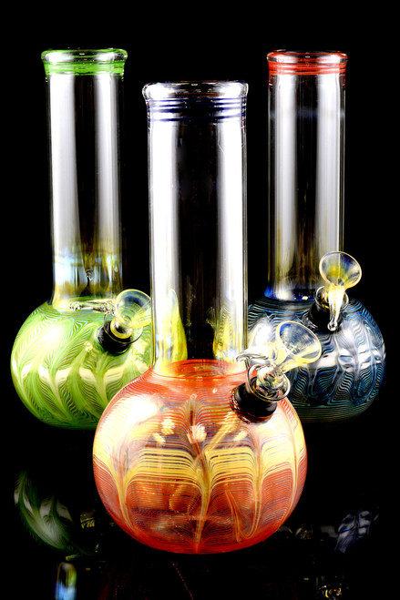 (US Made) Small Colorful Glass Water Pipe - WP825