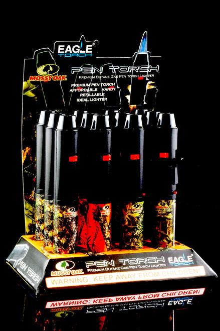 12 Pc Camo Eagle Pen Torch Lighter Display - L0150