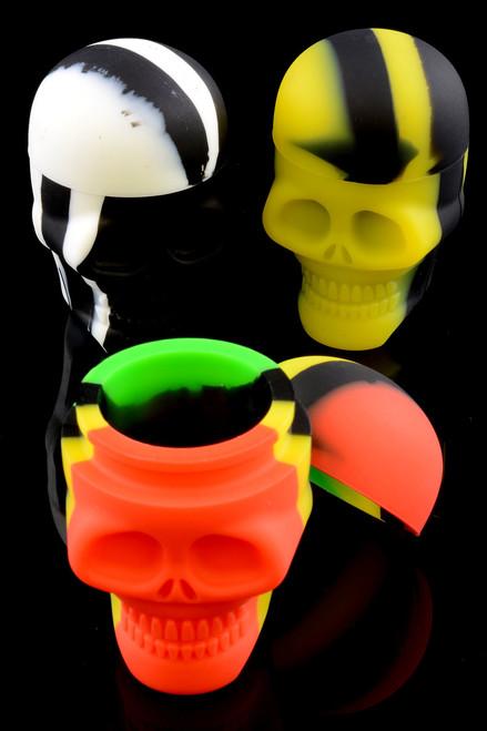 15ml Silicone Skull Jar - J0161