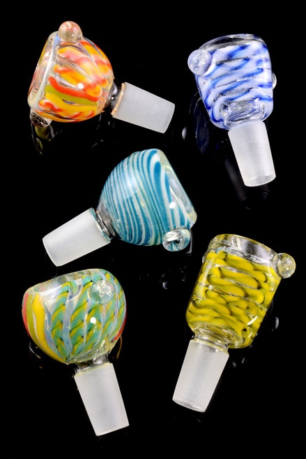 (Mix) 14.5mm Male Glass on Glass Bowl - BS522
