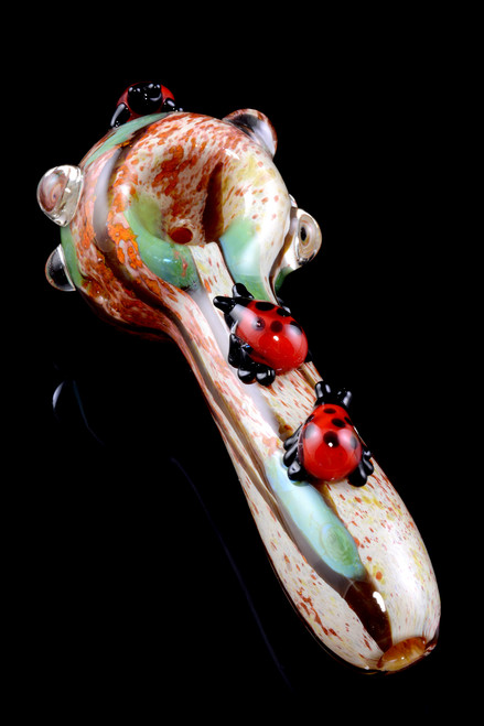 (US Made) Lady Bugs Small Spoon Pipe - P1601