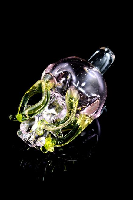 Wholesale American made UV reactive glass bubble cap.
