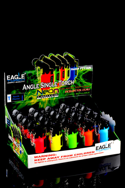 20 Pc Eagle Neon Angle Single Torch Display - L0175
