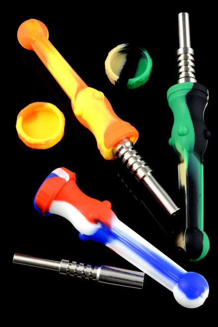 Wholesale silicone dab straws for resale.