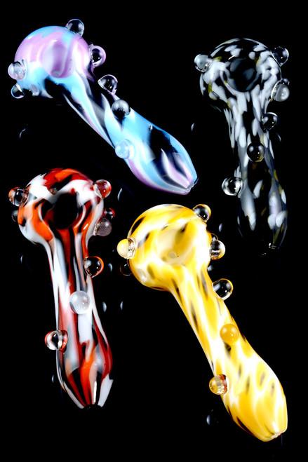 Bulk Empire Glassworks psychedelic pipes for resale.