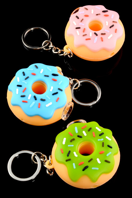 Silicone Donut Keychain Pipe - P1740
