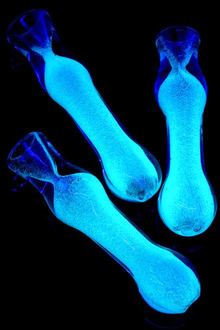 Glow in the Dark Frit Glass Chillum - C0237