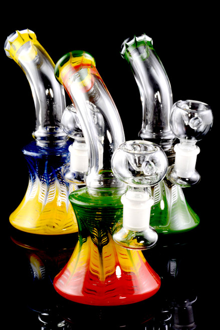 Small Colorful Stemless GoG Water Pipe - WP1665