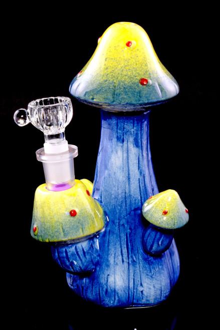 Bulk glass mushroom water pipe for resale.