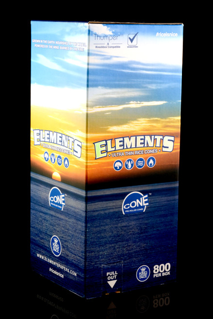 800ct Bulk Elements King Size Pre-Rolled Cones - RP253