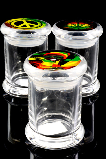 Small Glass Jar with Lid Sticker - J0195