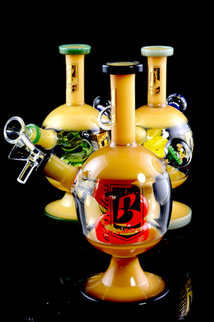 Small Stemless GoG Globe Water Pipe with Snake Perc - WP1791