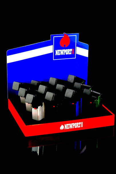 12 Pc Newport Torch Gun Lighter Display - L0178