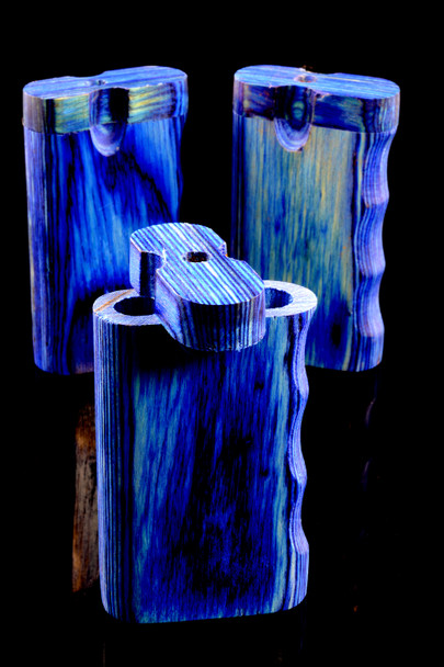 Small Blue Single Grip Dugout - W0198