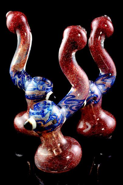 Large Color Changing Sherlock Frit Bubbler - B1038