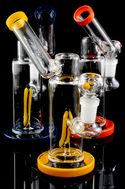 Small Stemless GoG Sidecar Water Pipe with Banana Perc - WP1703