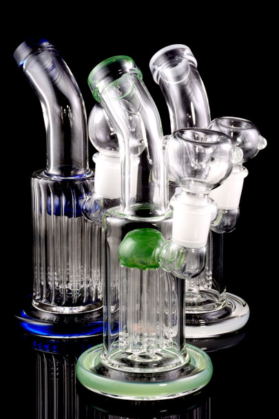 Small Stemless GoG Bent Neck Straight Shooter with Stemline Tree Perc - WP1704