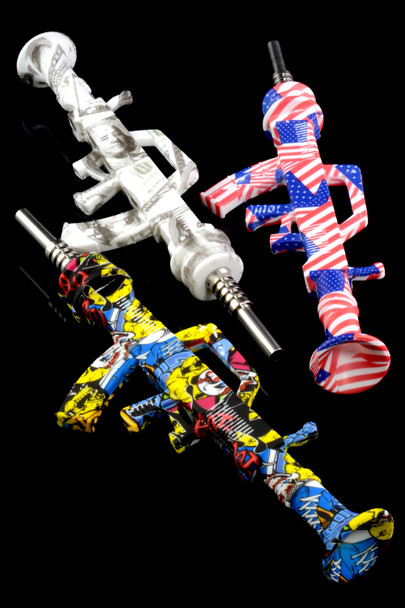 Colorful Rifle Silicone Nectar Straw - P1867