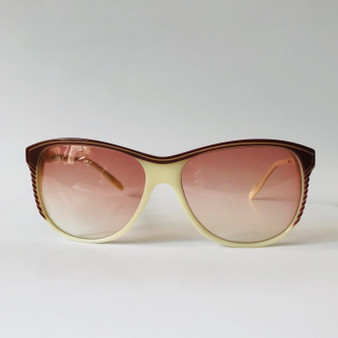 Pierre Balmain Cream Vintage Sunglasses 1018 793