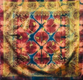 Vintage silk scarf S048