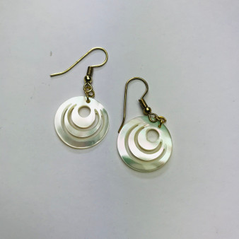 Spiral Shell Earrings Mother of Pearl