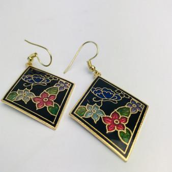 Butterfly Cloisonné Earrings