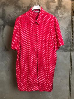 Camisa Vermelho/Rosa Polka Dot
