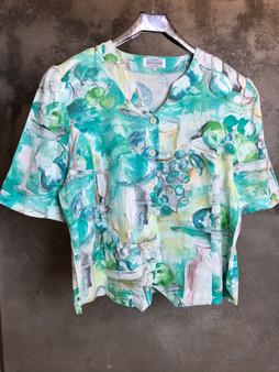 Camisa em Tons de Verde Anos 90