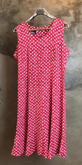 Vestido Vermelho com Bolinhas Brancas Anos 90