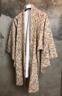 Kimono Japonês Castanho com Folhas