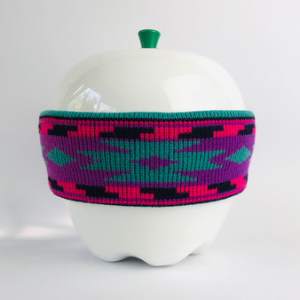 80s Headband Pink Purple Green