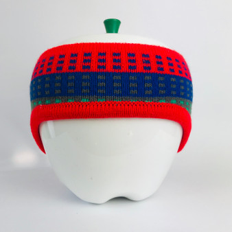 80s Headband Red Blue Green with Ear Covers