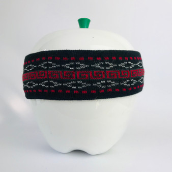 80s Headband Black Red White