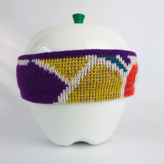 80s Headband Purple Yellow Orange