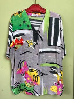 Camisa / Túnica com Print Abstrato Anos 90