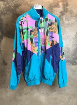 90s Jacket Verde Azul e Laranja