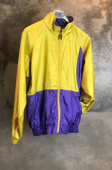 90s Jacket em Mostarda e Lilás